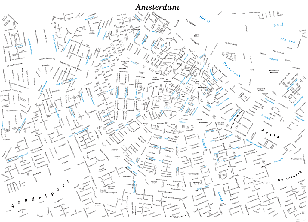 Typographic Map Amsterdam | Design